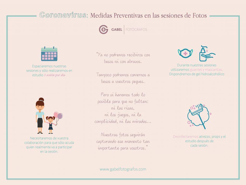 medidas preventivas contra el coronavirus en las sesiones de fotos